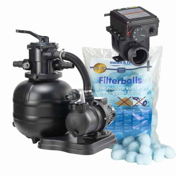 filtersystem med elvärmare