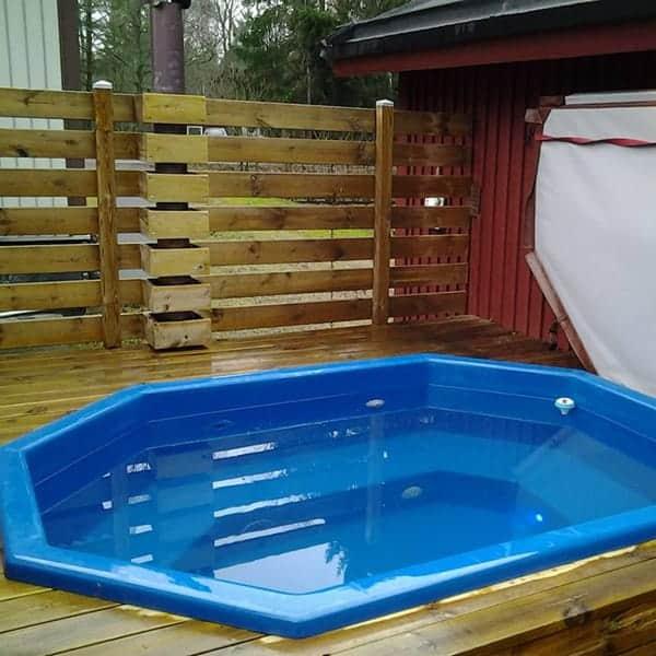 terrasspool blå
