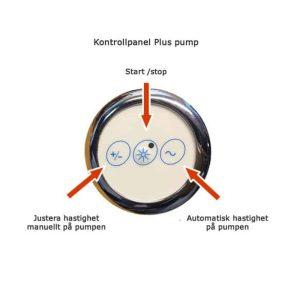 manöverpanel bubbelsystem